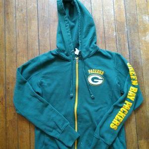 Green Bay Packers Women Full-zip Hoodie Medium
